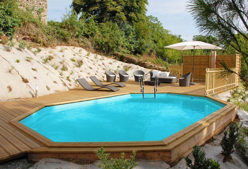 piscinas desmontables imitacion madera