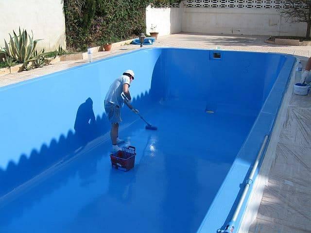 pintura para piscinas de fibra